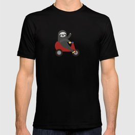 Sloth on Tricycle T-shirt