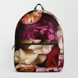 Pink, White, and Red Roses Backpack