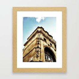 London by iPhone- wyndhams theatre Framed Art Print