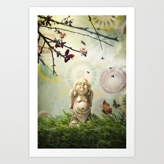 Little Buddha Art Print