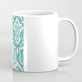 Ikat Damask Aqua Coffee Mug