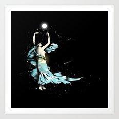 Dance Into The Moonlight Art Print