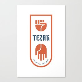 Tezak Family Crest Canvas Print