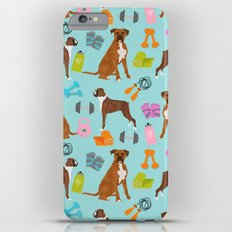 Boxer dog pattern fitness dog lover pet portraits boxers dog breed by pet friendly iPhone 6 Plus Slim Case