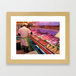 Chinatown Fish Market - ( Lunar New Year in New York City: 2010 ) Framed Art Print