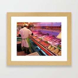 Chinatown Fish Market - ( Lunar New Year in New York City: 2010 ) Framed Art Print