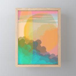 Shapes and Layers no.10 - Sun, Waves, Clouds, Sky abstract Framed Mini Art Print