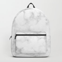 Classic Deep Grey and White Natural Stone Veining Quartz Backpack