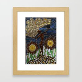 """Mother Earth"" Mosaic Art Framed Art Print"