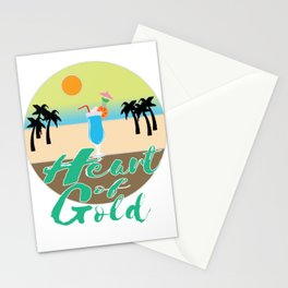 A Great & peaceful mind with a very kind Heart for a valued goodness expression allude Heart of gold Stationery Cards