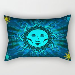 Blue Moon #1 Blue Moon Psychedelic Character Icon Tapestry Rectangular Pillow