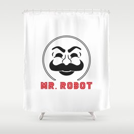MR Robot Fsociety Shower Curtain