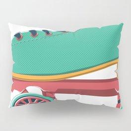 old school roller skate Pillow Sham