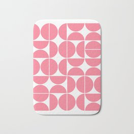 Mid Century Modern Geometric 04 Pink Bath Mat