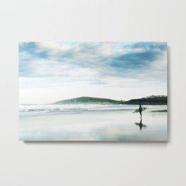 Fistral Surfer Metal Print