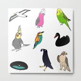 Bird Party Metal Print