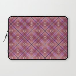 Oblique plaid pink . Laptop Sleeve