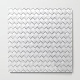woven white Metal Print