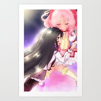 madoka magica Art Prints featuring Puella Magi Madoka Magica by Mayuu