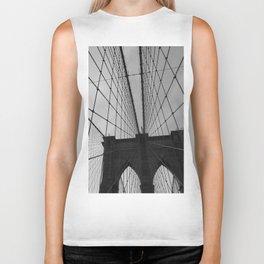 Brooklyn Bridge Black and White Biker Tank