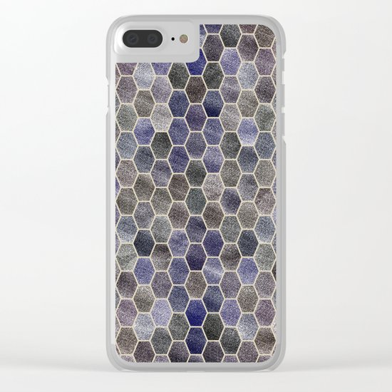 Glitter Tiles Clear iPhone Case