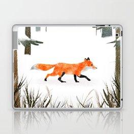 Fox In A Late Winter Snowfall Laptop & iPad Skin