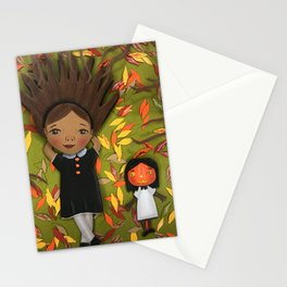 Little Fall Witch Stationery Cards