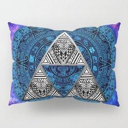 Triforce Circle With Blue Nebula Pillow Sham