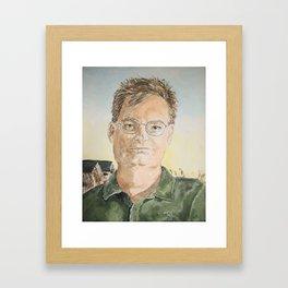 Adventurous Jeff Framed Art Print