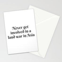 A Land War in Asia Stationery Cards