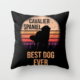 Cavalier king charles spaniel graphic For Dog Lovers Cute Dog Throw Pillow
