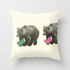 A Bear Romance Throw Pillow