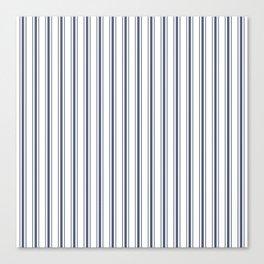 Dark Sargasso Blue Mattress Ticking Wide Striped Pattern - Fall Fashion 2018 Canvas Print