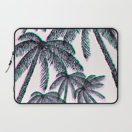 Tropical Palm Trees in Pink Teal Black Laptop Sleeve