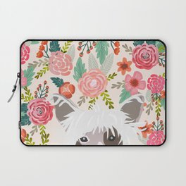 Chinese Crested floral dog breed pattern cute dog gifts for dog lovers Laptop Sleeve