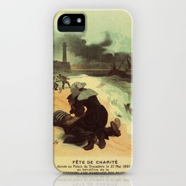 Vintage French drowned sailors charity advertising iPhone Case