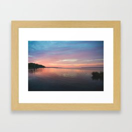 Sunrise over Pamlico River Framed Art Print
