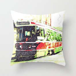 501 Street car Throw Pillow