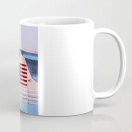 American Flag on a Barn with Boulder Colorado Flatirons  Coffee Mug