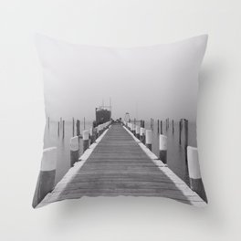 Pier on Block Island Throw Pillow