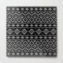 Aztec Essence Ptn III Grey on Black by nataliepaskell