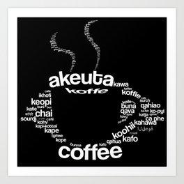 Coffee around the world Art Print