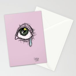 Eye cry print Stationery Cards
