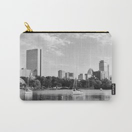 Black & White Boston Skyline I Carry-All Pouch