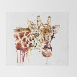 Giraffe Head Throw Blanket