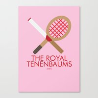 the royal tenenbaums Canvas Prints featuring The Royal Tenenbaums by Marcus Coleman