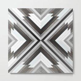 Cross Pattern Metal Print