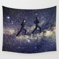 running Wall Tapestries featuring Running by Cs025