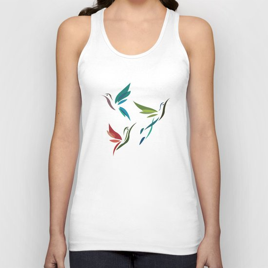 Hummingbirds Unisex Tank Top