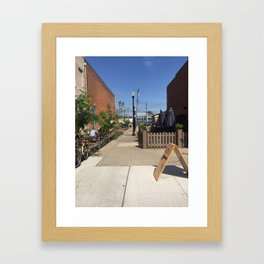 CLE ALLEY Framed Art Print